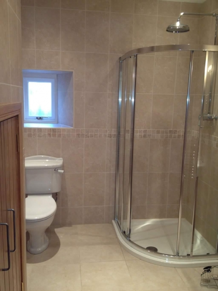 The shower and WC