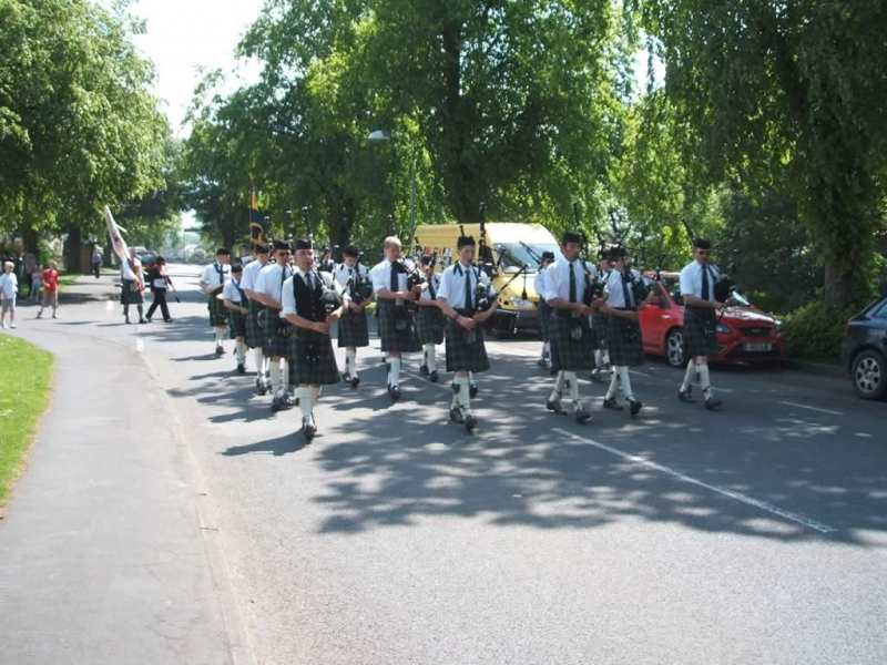 The West Linton Pipe Band