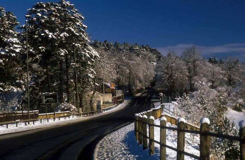 West Linton in winter